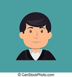 professionell, baugewerbe, zeichen, avatar