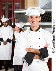 professionell, chefs, in, kueche