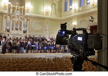 professionell, digitales video, kamera., accessoirs, für,...