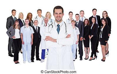professionell, krankenhaus- stab