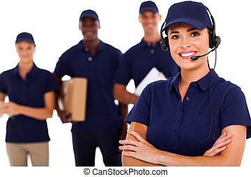 professionell, löpare service, personal