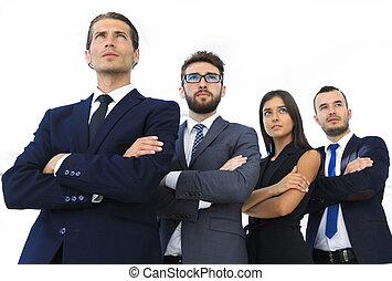 professionell, lag, av, affär, folk.
