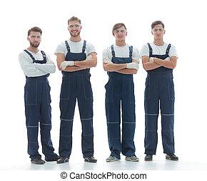 professionell, lag, av, industriella arbetare
