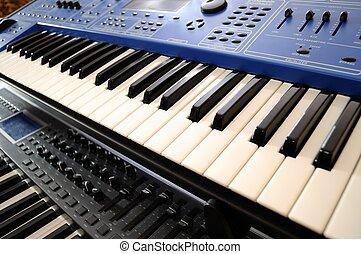 professionell, midi-keyboard
