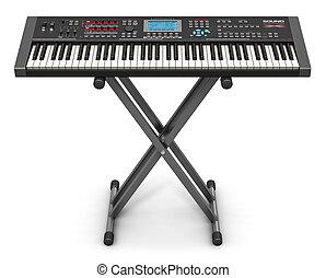 professionell, musikalisches, synthesizer, auf, stehen