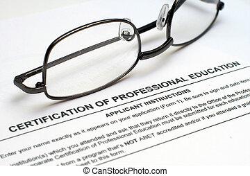 professionell, utbildning, bilda