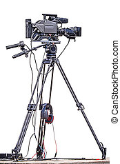 professionell, video, kamera.