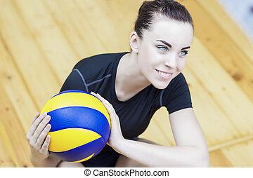 professionell, volleyballspieler