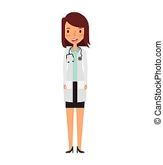 professionell, zeichen, avatar, doktor