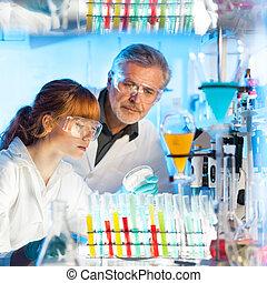 professionelle, hälsa, lab., omsorg