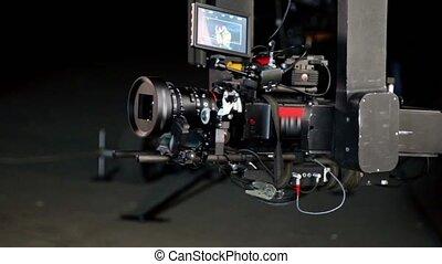 professionnel, appareil photo, vidéo, exposer