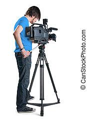 professionnel, cameraman