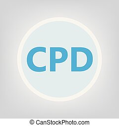 professionnel, concept, cpd, (continuing, development)