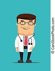 professionnel, docteur, propre, illustrat
