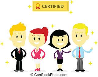 professionnel, employés, certifié