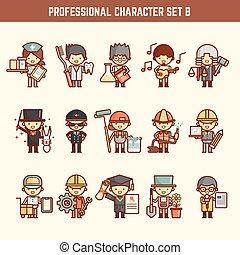 professionnel, ensemble, caractère