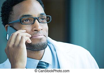 professionnel, healthcare, téléphone
