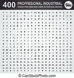 professionnel, industriel, icônes