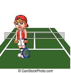 professionnel, joueur tennis
