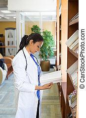 professionnel, lecture, healthcare