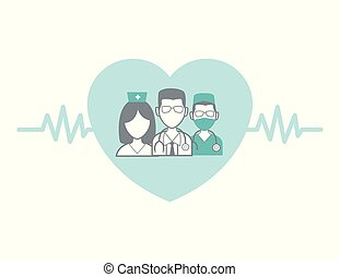 professionnel médical, concept