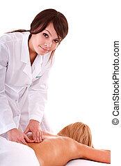 professionnel, masseur, salon., masage, spa