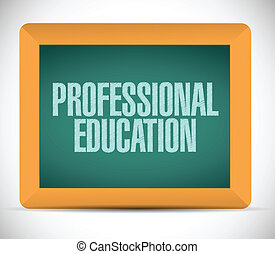 professionnel, message, education, illustration