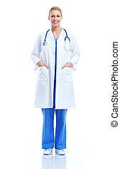 professionnel, monde médical, femme, docteur.