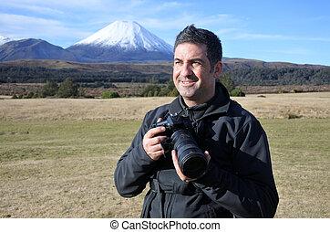 professionnel, nature, faune, voyage, photographe