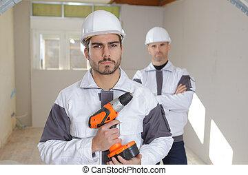 professionnel, ouvriers, industriel, groupe