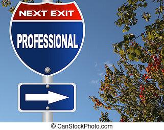 professionnel, panneaux signalisations