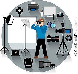 professionnel, photo studio