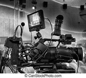 professionnel, vidéo, appareil-photo., numérique