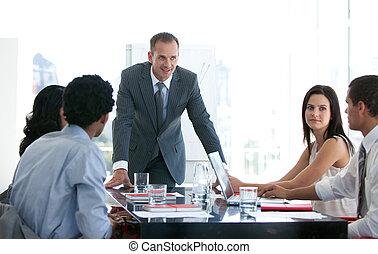 professionnels, étudier, a, nouvelles affaires, plan