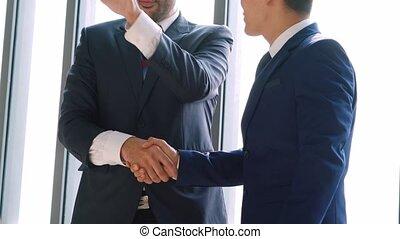 professionnels, bureau corporation, poignée main