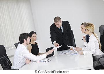 professionnels, dans, a, réunion, à, bureau