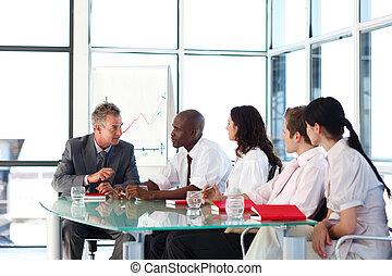professionnels, dialoguer, dans, a, réunion