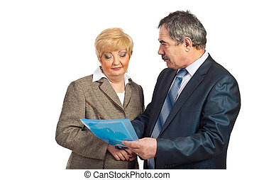 professionnels, discuter, contrat, mûrir
