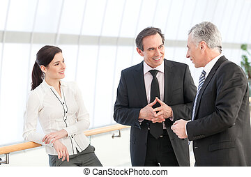 professionnels, discuter