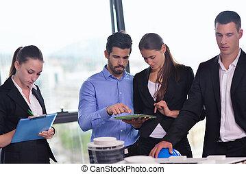 professionnels, et, ingénieurs, sur, réunion