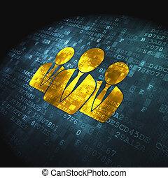 professionnels, fond, numérique, droit & loi, concept: