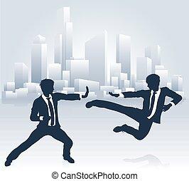 professionnels, fu, combat, kung