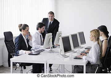 professionnels, groupe, fonctionnement, dans, client, et, aider bureau, bureau