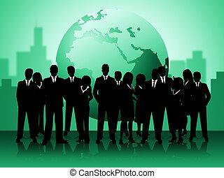professionnels, professionnels, planète, mondain, spectacles