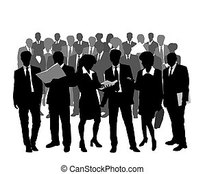 professionnels, silhouettes