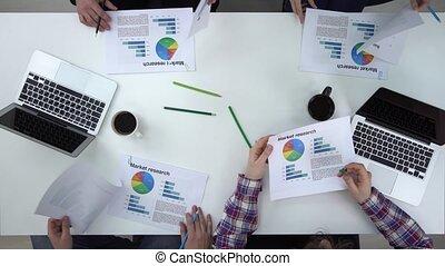 professionnels, sommet, liste, graphiques, par, vue