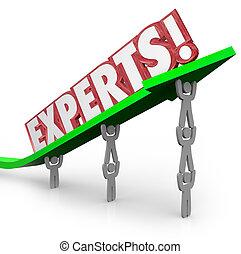 professionnels, soulevé, expérimenté, mot, fonctionnement, but, habile, usage, ensemble, leur, métier, tâche, experts, commun, flèche, équipe, compétence, ou, réaliser