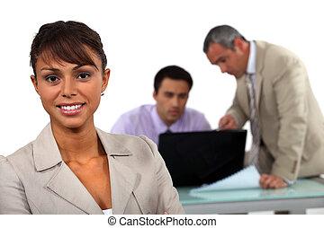professionnels, trois, rapide, réunion, avoir
