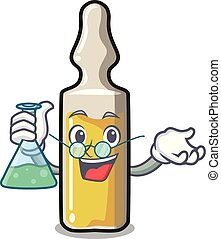 Professor ampoule character cartoon style vector...