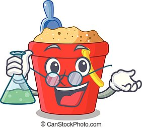 Professor beach bucket shape the fun character vector...